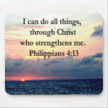 PHILIPPIANS 4:13 SUNRISE DESIGN MOUSE PAD