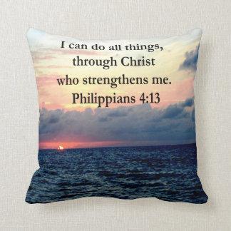 PHILIPPIANS 4:13 SUNRISE DESIGN THROW PILLOW