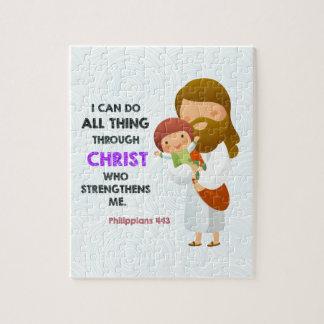 Philippians 4:13 Through Christ Jigsaw Puzzles