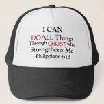 """PHILIPPIANS 4:13 TRUCKER HAT<br><div class=""""desc""""></div>"""