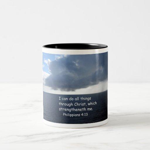 Philippians 4:13 Two-Tone mug