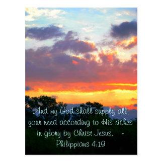 Philippians 4:19 Postcard