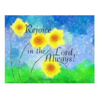 Philippians 4:4, Rejoice in the Lord Always Postcard