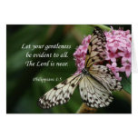 *Philippians 4:5 Butterfly Flowers Cards