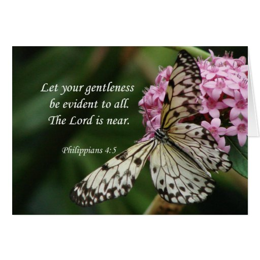 *Philippians 4:5 Butterfly Flowers Greeting Card