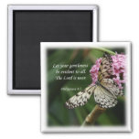 Philippians 4:5 Butterfly Flowers Refrigerator Magnets