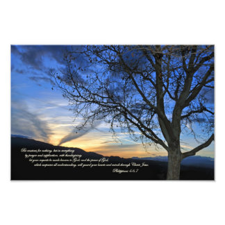 Philippians 4:6,7 Be anxious for nothing Photo Print