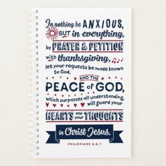 Philippians 4:6, 7 planner