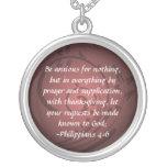 Philippians 4:6 Christian Bible Verse Pendant