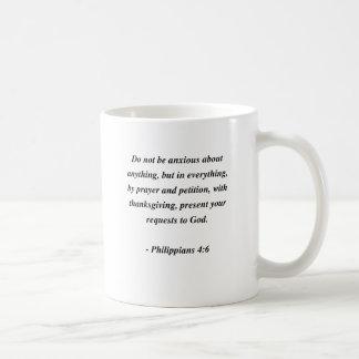 PHILIPPIANS 4:6 CLASSIC WHITE COFFEE MUG