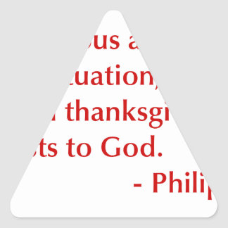 Philippians-4-6-opt-burg.png Triangle Sticker