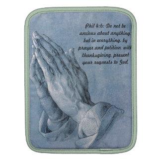 Philippians 4:6 Praying Hands Bagworks iPad sleeve