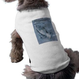 Philippians 4:6 Praying Hands Dog Apparel. Dog T-shirt