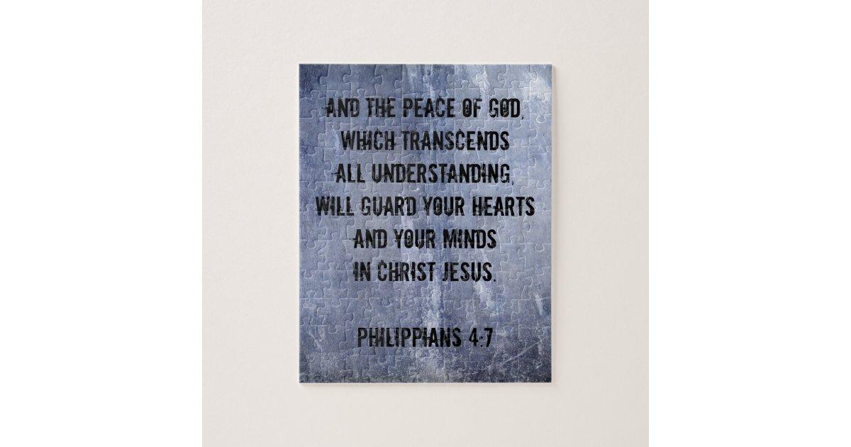 Philippians 4 7 Bible Verse Jigsaw Puzzle Zazzle Com