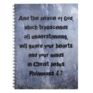 Philippians 4:7 Bible Verse Notebook