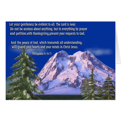 Philippians 4:7 greeting card