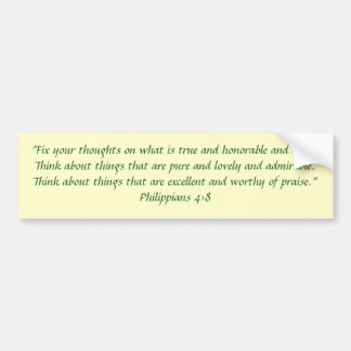 Philippians 4:8 bumper sticker