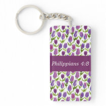 Philippians 4:8 keychain