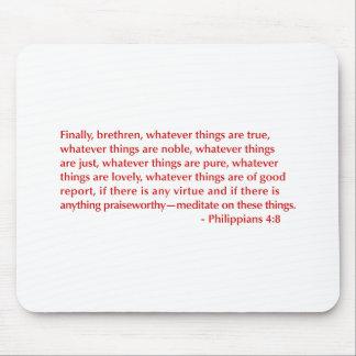 Philippians-4-8-opt-burg.png Alfombrillas De Raton