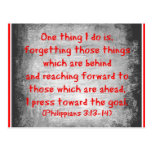 Philippians Bible verse One thing I do is Post Cards