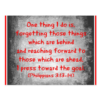 Philippians Bible verse One thing I do is Postcard