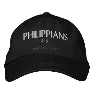 PHILIPPIANS gotGod316.com 4:13 Wool Embroidered Hats