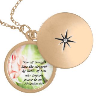 Philippians Rose Locket Necklace