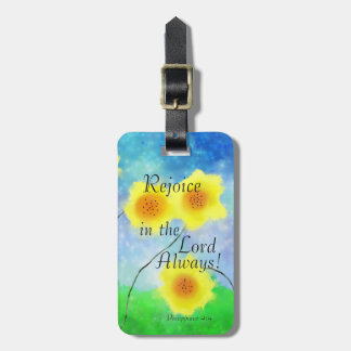 Philippians Scripture, Rejoice in the Lord Always Luggage Tag
