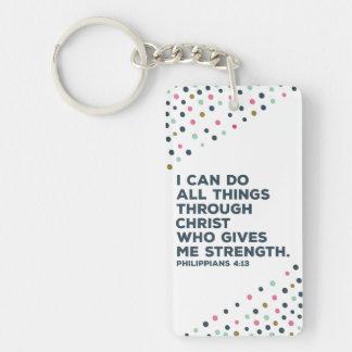 Philippians Women's Christian key chain