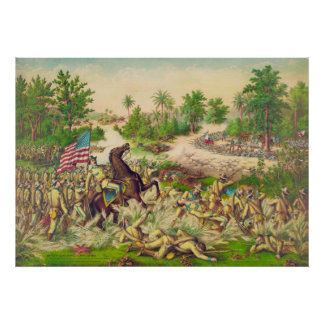 Philippine American War Battle of Quingua 1899 Poster