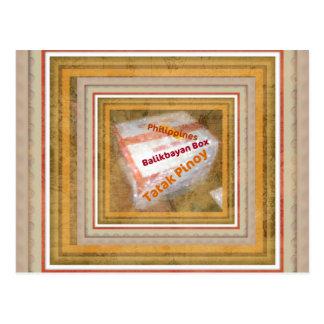 Philippine Balikbayan Box Design Postcard