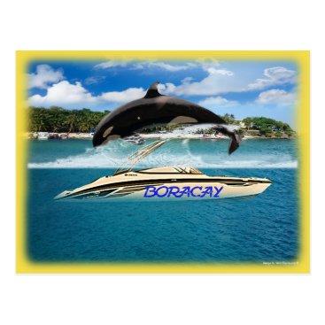 Philippine Beach Whale Postcard