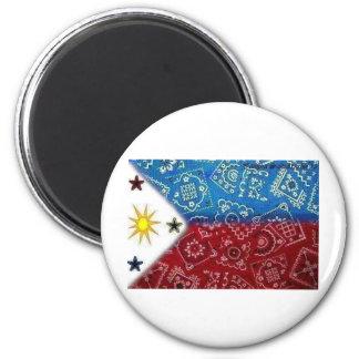 Philippine Flag 2 Inch Round Magnet