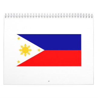 Philippine flag calendar