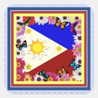 Philippine Flag Design - Filipino Sticker