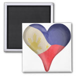 Philippine Flag In A Heart Magnet