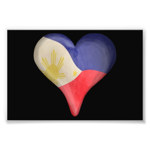 Philippine Flag In A Heart Photo