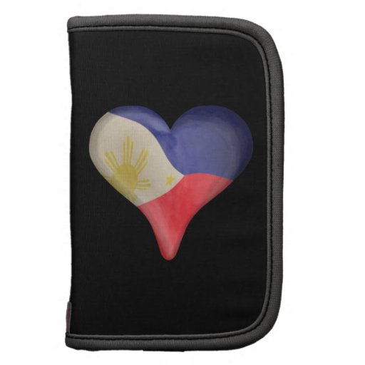 Philippine Flag In A Heart Planners