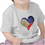 Philippine Flag In A Heart Tshirts