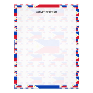 Philippine Flag in Multiple Colorful Layers 2 Letterhead Template