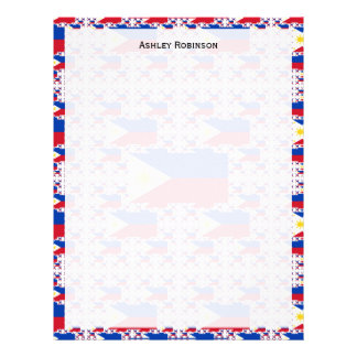 Philippine Flag in Multiple Layers Customized Letterhead