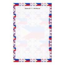 Philippine Flag in Multiple Layers Stationery