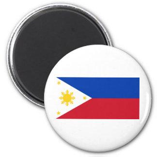 Philippine Flag, Philippine Islands National Flag 2 Inch Round Magnet