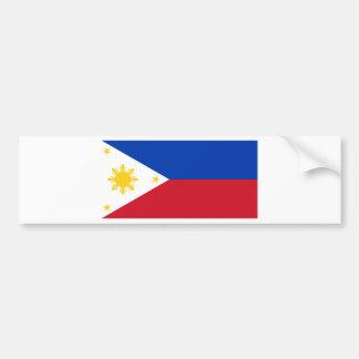Philippine Flag, Philippine Islands National Flag Bumper Sticker