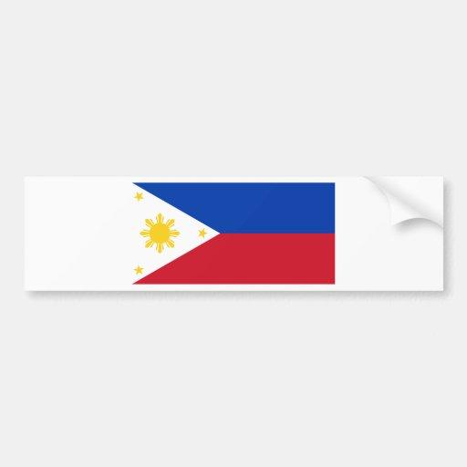 Philippine Flag, Philippine Islands National Flag Car Bumper Sticker