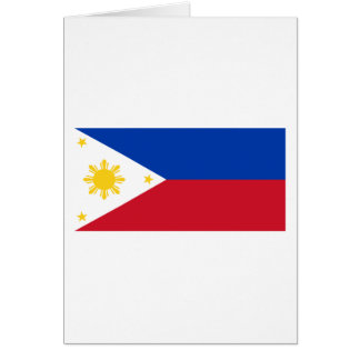 Philippine Flag, Philippine Islands National Flag Card