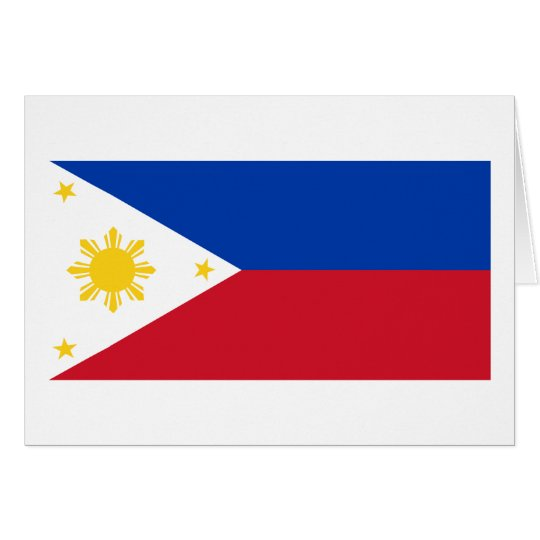 Philippine Flag, Philippine Islands National Flag Card