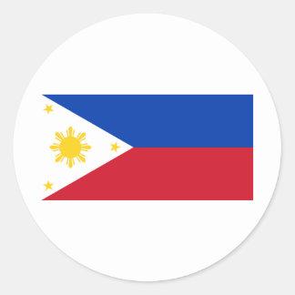 Philippine Flag, Philippine Islands National Flag Classic Round Sticker