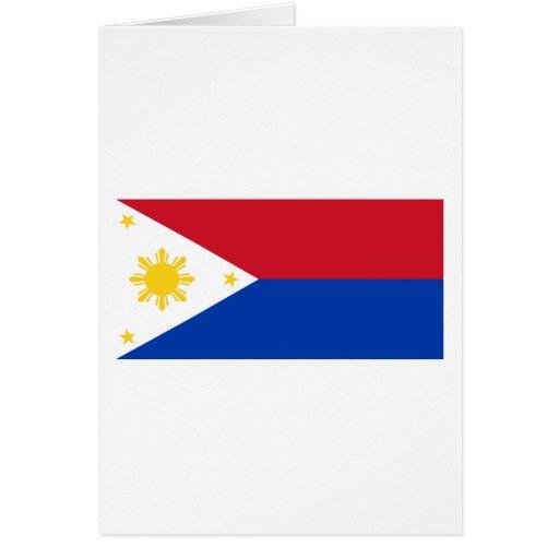 Philippine Flag | Philippine Islands | Pinoy Flag Greeting Card