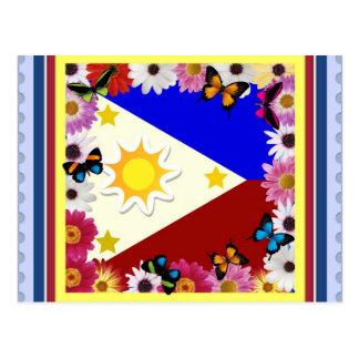 Philippine Flag Postard Postcard